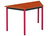 Table de réunion multiforme classique trapèze plateau teck