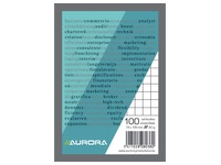 Bloc notes Aurora A7 75 x 105 mm 5 x 5 100 feuilles