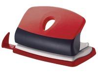 Perforator JM Bruneau 2 gaten - capaciteit 10 vellen - rood/zwart
