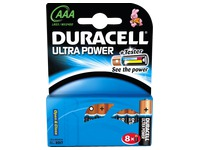 Alcaline battery AAA - LR3 Duracell Ultra Power - Blister of 8