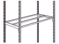 Set of 2 shelves Industripro 125 x 40 cm