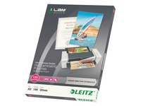 Box of 100 sleeves for lamination Leitz - 125 micron A3