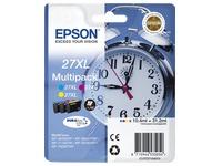 Pack de 3 cartouches Epson 27XL couleurs