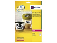 Pack 240 ultra strong white labels Avery laser 99,1 x 42,3 mm L4776-20