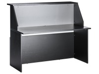 Reception desk straight W 120 cm Twiny black