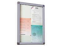 Outdoor information board, hinged door, aluminium frame, 1 sheet
