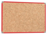 Information board, cork 180x90cm, red frame