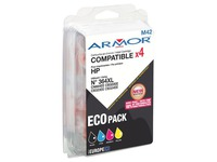 Pack van 4 cartridges Armor compatibel HP 364xl zwart + kleur