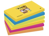 Notes colours Rio Super Sticky Post-it 76 x 127 mm - 1 bloc contains 90 sheets of 1 colour.