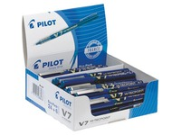 Pack of 24 ballpoint pens Pilot Hi-Tecpoint V7 blue + 6 free