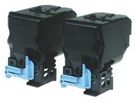Pack 2 zwarte toners Epson S0500594 voor laserprinter