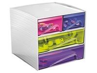 Mini Aufbewahrungsmodul in Plastik Cep My Cube vielfarbig
