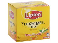 Box of 100 teabags Lipton Yellow