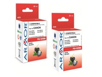 Pack cartouche Armor Compatible Canon PGI525BK noire pour imprimante jet d'encre