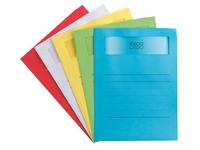 Pack 50 paper sleeves with window Fast Voluminio A4 120 g assorted colours