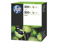 HP 300XL Pack van 2 cartridges kleuren voor inkjetprinter
