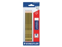 Pack of 5 HB pencils + 1 free eraser of Staedtler Noris