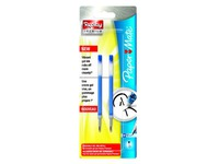Pack of 2 blue refills for Replay Premium Papermate with medium-sized 0.7 mm tip