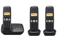 Pack Trio Telefoon met antwoordapparaat Siemens Gigaset A250A - zwart