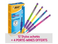 Pack of 12 pens Bic Gelocity + 4 propelling pencils Bic Matic free