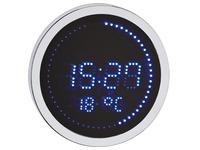 Round LED clock aluminium - Quartz