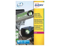 Labels ultra resistant laser 99.1 x 139 mm Avery J4774-20 white - pack of 80