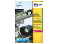 Etikette großer Widerstand Laser  99.1 x 139 mm Avery J4774-20 weiß - Packung mit 80