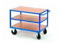 Rolwagen voor atelier 3 houten platformen - draagkracht 500 kg