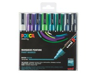 Marker Posca assorted cold colours conical point 1.8 to 2.5 mm - Box of 8