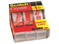 Pack of 2 + 1 dispensers Scotch Crystal tape