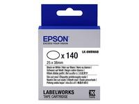 Epson LabelWorks LK-8WBWAB - gesneden ovalen etiketten - 140 etiket(ten) (C53S658902)