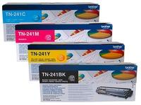Brother TN241 Pack 4 toners 1 noir + 3 couleurs pour imprimante laser