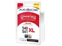 Pack cartridges Armor compatible Canon PG540XL-CL541XL 4 colors black for inkjet printer