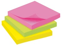 Block 100 repositionable notes Bruneau 76 x 76 mm assorted colours
