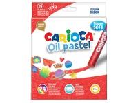 Carioca oliepastels, doos van 24 stuks in geassorteerde kleuren