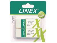 Linex gomme blanche, blister de 2 pièces