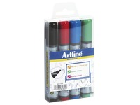 Sleeve with 4 erasable markers Artline Dry Safe 517 classic assortment