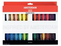 Amsterdam acrylique, 24 tubes de 20 ml en couleurs assorties
