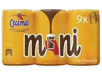 Cecemel chocolademelk Mini, blik van 15 cl, pak 18 stuks