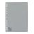 geperforeerd numeriek tablad grijs tussenblad